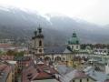 Blick vom Stadtturm zu Dom und Nordkette