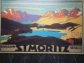 altes Fremdenverkehrsplakat St. Moritz