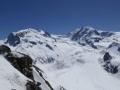 Monte Rosa mit Dufourspitze (4634 m - höchster Berg der Schweiz)