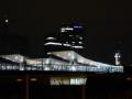 Blick zum neuen Hauptbahnhof in der Nacht