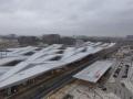 der neue Hauptbahnhof von oben