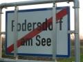 Ortsende Podersdorf am Güterweg Richtung Hölle