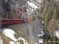 mit der Rhätischen Bahn über den Albula-Pass