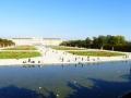 Blick vom Neptunbrunnen auf das Schloss