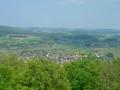 Ausblick auf die Alb von der Aussichtswarte am Sternberg