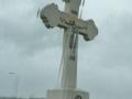orthodoxes Kreuz an der Autobahn nacvh Belgrad