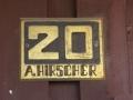Türschild in der Straße Apollonia Hirscher