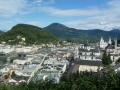 Blick vom Mönchsberg auf Salzburg