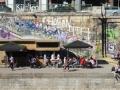 "Blick vom ""Motto am Fluß"" auf den Donaukanal"