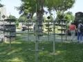 Tafeln für die Urnengräber im Waldfriedhof