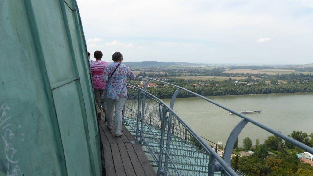 Esztergom - Blick von der Kuppel der Basilika zur Donau