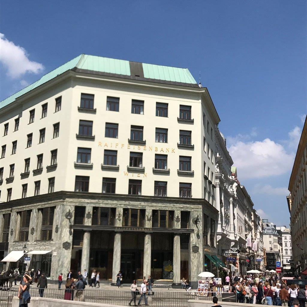 Looshaus am Michaelerplatz und Kohlmarkt