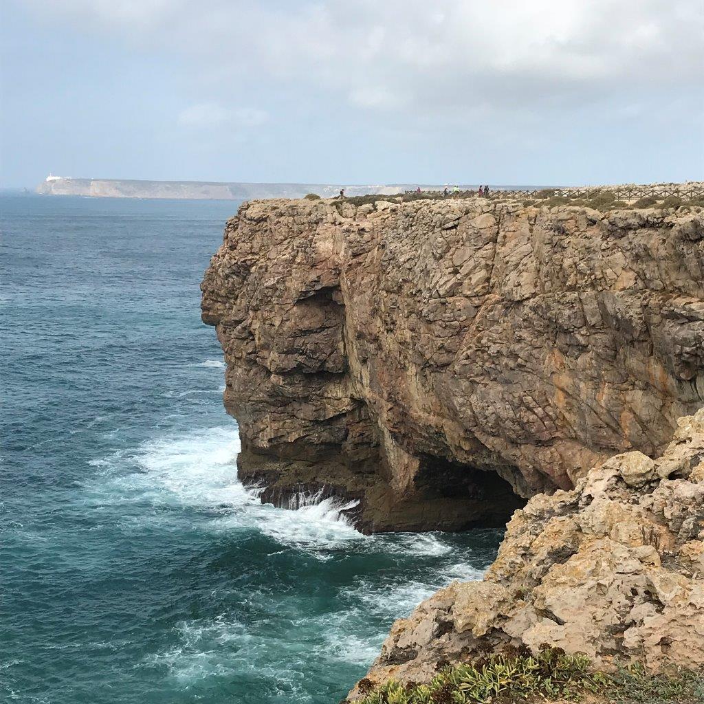 Blick von der Festung zum Cabo Sao Vicente