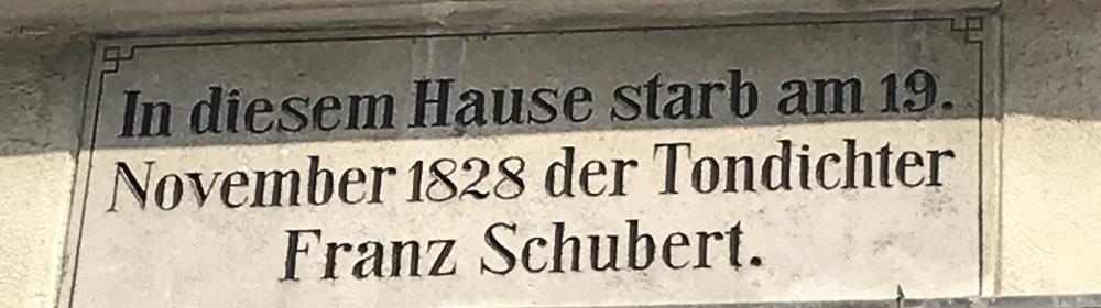 Sterbehaus Franz Schubert