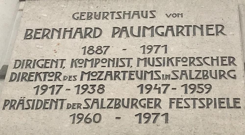 Geburtshaus Bernhard Paumgartner