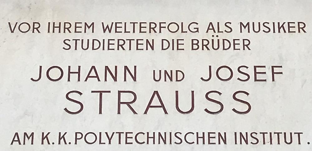 Gedenktafel Johann und Josef Strauß