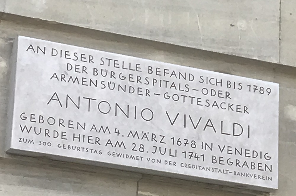 Gedenktafel Antonio Vivaldi