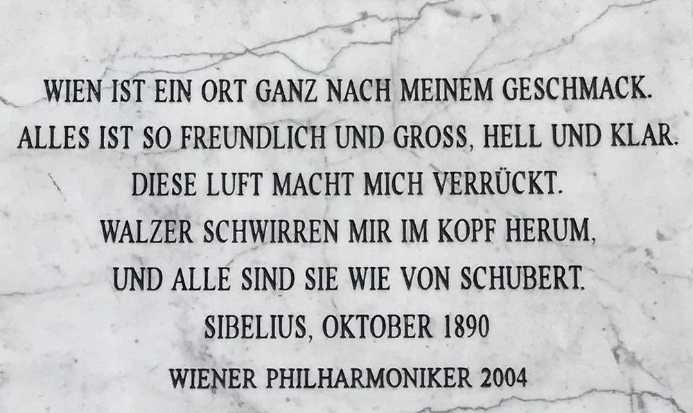 Gedenktafel Jean Sibelius