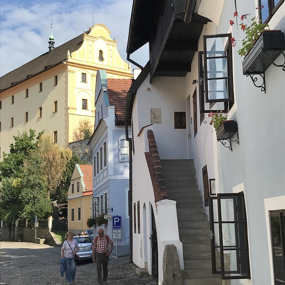 unsere Pension zwischen Hauptplatz und Moldau