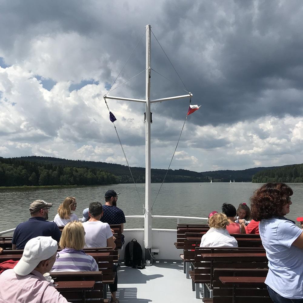 Bootsfahrt auf dem Moldaustausee