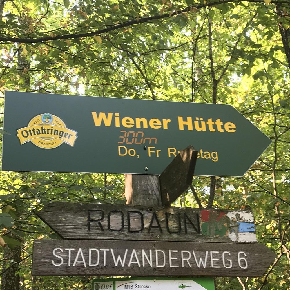 Wegweiser Wiener Hütte