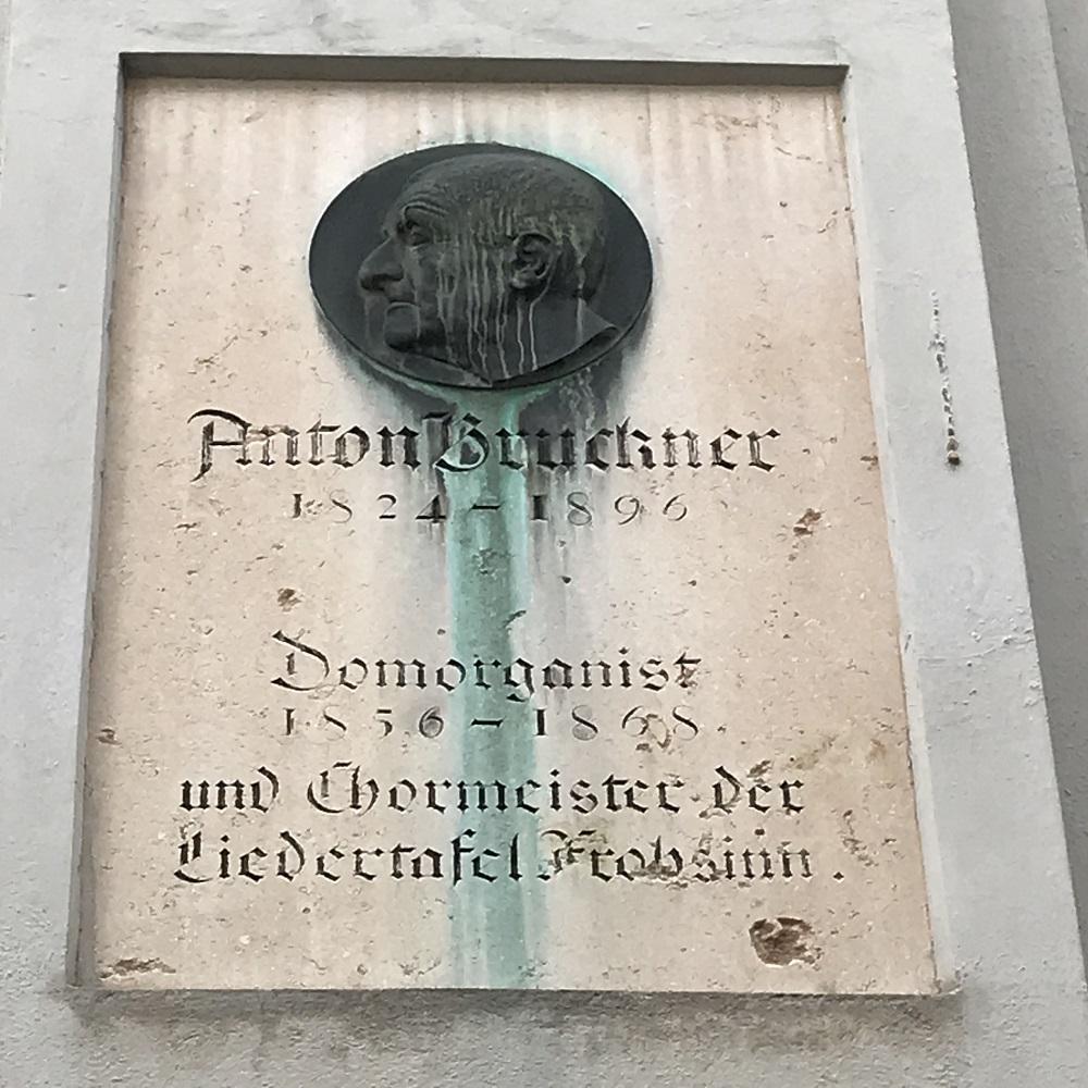 Gedenktafel Anton Bruckner