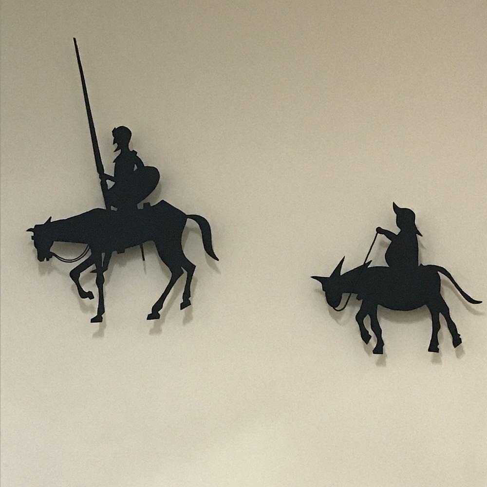 Don Quijote und Sancho Pansa als Wand-Deko