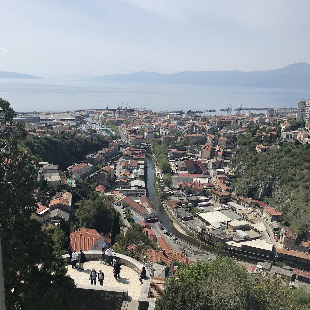 Blick von Trsat auf Rijeka